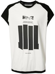 Nil0s Sleeveless Graphic T Shirt Men Cotton 3 White