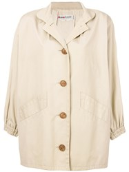 Yves Saint Laurent Vintage Oversized Trench Coat Nude And Neutrals