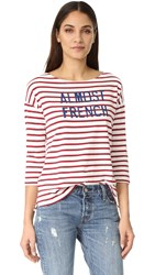 Sundry Almost French Stripe Tee Red Stripe
