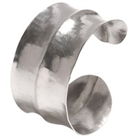 Dower And Hall Sterling Silver Double Concave Hammered Cuff Silver