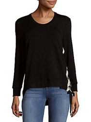 Saks Fifth Avenue Lace Up Top Black