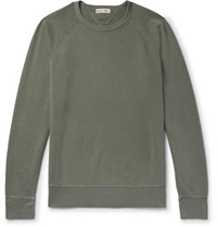 Alex Mill Loopback Cotton Jersey Sweatshirt Green