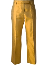 True Royal Relaxed Fit Capri Trousers Metallic