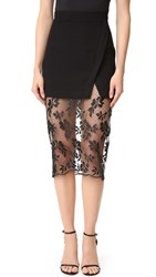 Bec And Bridge Black Roses Skirt