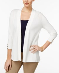 Charter Club Petite Honeycomb Stitch Open Front Cardigan Only At Macy's Cloud