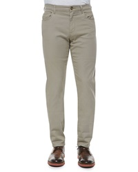 Vince 5 Pocket Stretch Cotton Pants Khaki