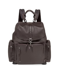 Ermenegildo Zegna Maserati Leather Backpack Brown