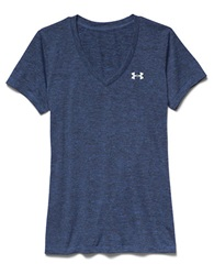 Under Armour V Neck Tech Tee Navy Blue