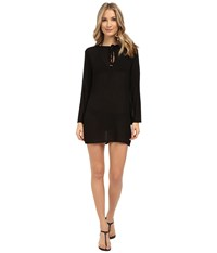 Athena Cabana Solids Tunic Cover Up Black Women's Swimwear