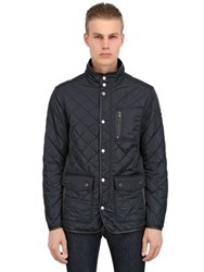 Paul And Shark Quilted Nylon Fleece Jacket