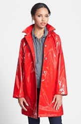 Women's Jane Post 'Princess' Rain Slicker With Detachable Hood Poppy