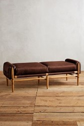 Anthropologie Leather Rhys Bench Chocolate