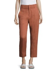 Vince Textured Carrot Pants Fig