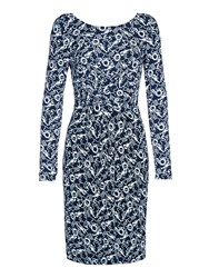 Yumi Lobster Rope Jersey Dress Navy