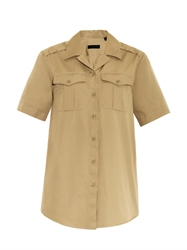 Burberry Notch Collar Safari Shirt