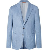 Tod's Light Blue Linen Suit Jacket Blue