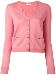 Tory Burch Short Cardigan Pink Purple