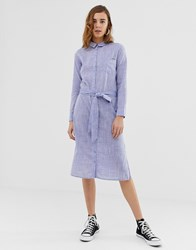 Pepe Jeans Melania Denim Maxi Shirt Dress Blue
