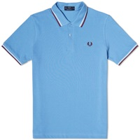 Fred Perry Original Twin Tipped Polo Mid Blue