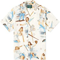 Gitman Brothers Vintage Camp Collar Swingers Shirt White