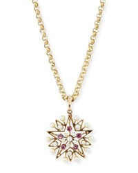Turner And Tatler Victorian Ruby Pearl Star Necklace