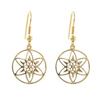 Hoochie Mama Daffodil Medallion Earrings Gold