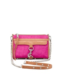 Mini Mac Calf Hair Crossbody Bag Hot Pink Rebecca Minkoff