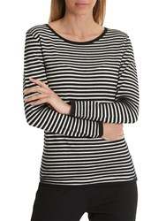 Betty And Co. Striped Jumper Black White