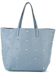 Red Valentino Large Studded Shopper Blue