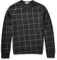 Balenciaga Checked Bonded Stretch Jersey Sweatshirt Black