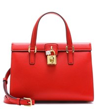 Dolce And Gabbana Lady Leather Tote Red