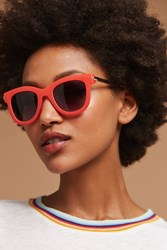 Anthropologie Poppy Matte Sunglasses Coral