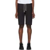 Champion Reverse Weave Black Logo Bermuda Shorts