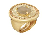 Vince Camuto Center Stone With Pave Ring Worn Gold Milky Grey Light Peach Pave Ring