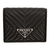 Prada Black Quilted Bifold Wallet