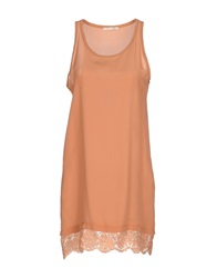 Nioi Short Dresses Ocher