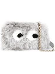 Anya Hindmarch 'Mini Eyes' Crossbody Bag Grey
