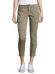 J Brand Buttoned Twill Cargo Pants Olive