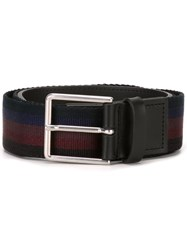 Paul Smith Striped Belt Black