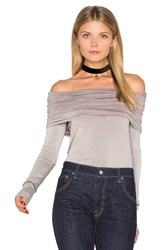 Free People Cosmo Cowl Long Sleeve Top Taupe