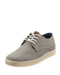 Ben Sherman Preston Lace Up Canvas Sneaker Gray
