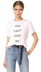 Prabal Gurung You Can't Stop Me Tee White