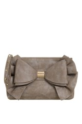 Topshop Oversized Bow Clutch Bag By Koko Couture Grey