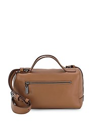 Vince Gramercy Leather Small Satchel Cashmere