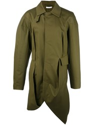 J.W.Anderson Asymmetric Hem Trench Coat Green