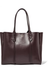 Lanvin The Shopper Small Leather Tote Burgundy