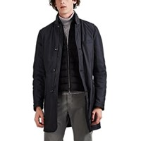 Moorer Tech Twill 2 In 1 Coat Gray