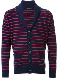Guild Prime Striped Cardigan Blue
