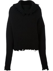 Unravel Oversized Jumper Black