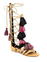 Rebecca Minkoff Eve Tall Leather Gladiator Sandals Natural